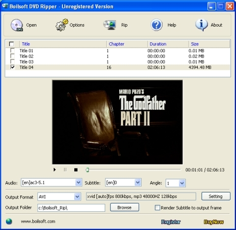 Boilsoft DVD Ripper
