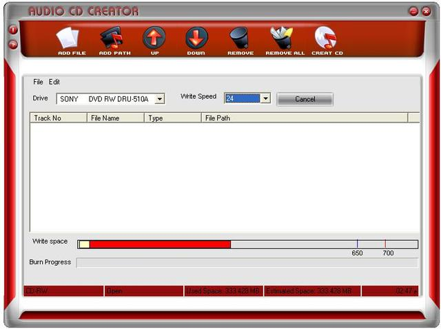 Free Audio CD Creator