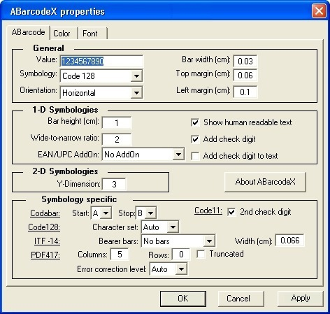 ABarCode ActiveX Control Runtime