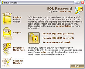Lastbit SQL Password Recovery
