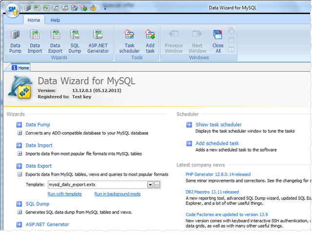 Data Wizard for MySQL