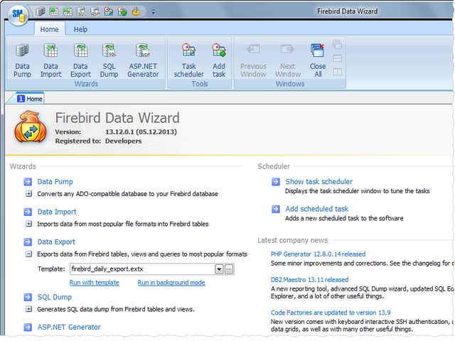 Firebird Data Wizard