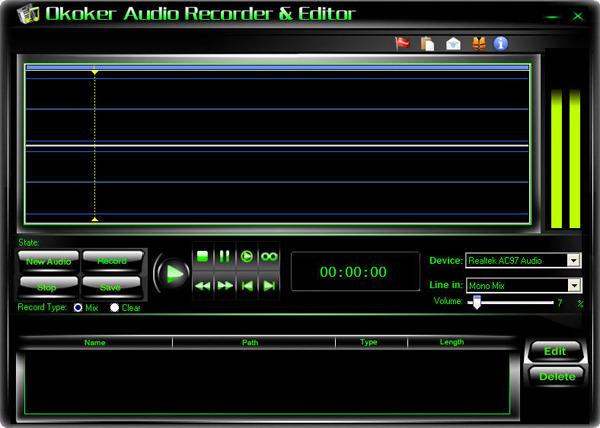 Okoker Audio Recorder&Editor
