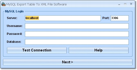 MySQL Export Table To XML File Software