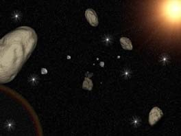 3D Space Asteroids