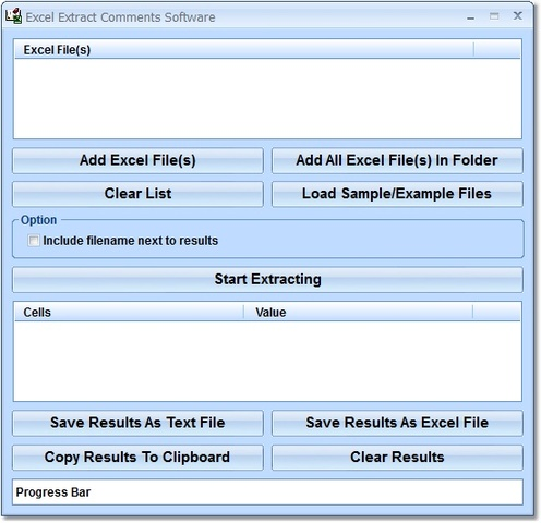 Excel Extract Comments Software