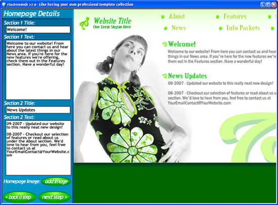 Flash Web Kit – Flash Website Builder – Professional Edition
