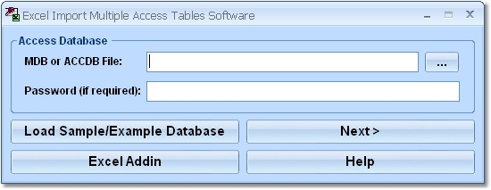 Excel Import Multiple Access Tables Software