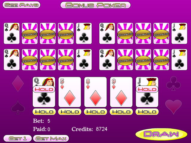 Five Play Bonus Poker