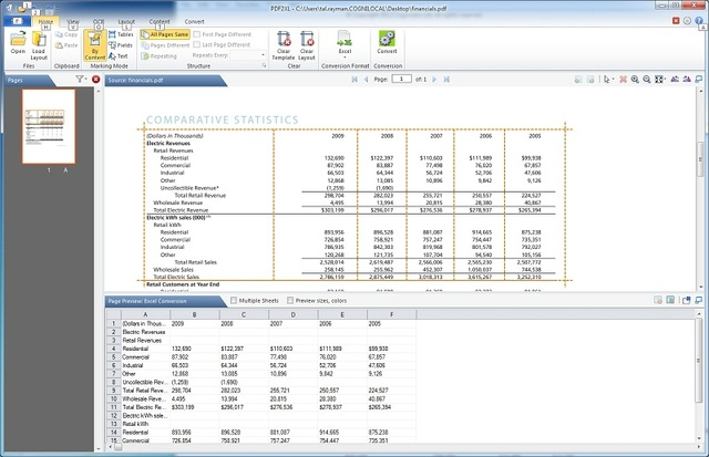 PDF2XL Enterprise: Convert PDF to Excel