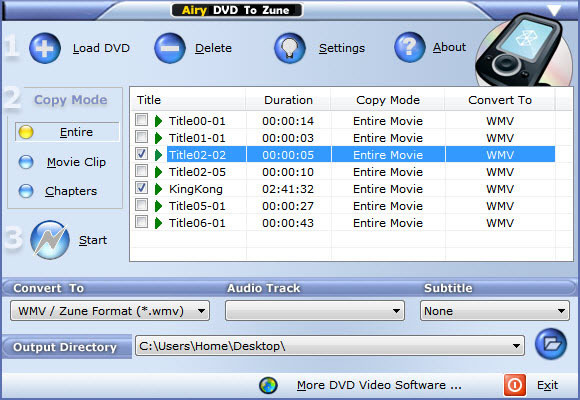 Airy DVD to Zune (Free)