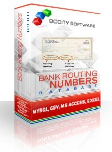 Bank Routing Numbers Database