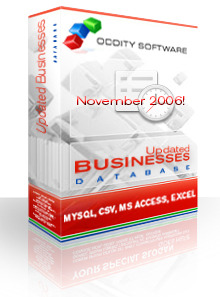 Texas Updated Businesses Database 11/06