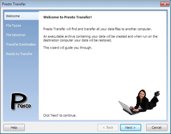Presto Transfer Quicken