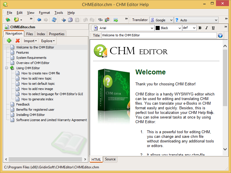 CHM Editor Free Download