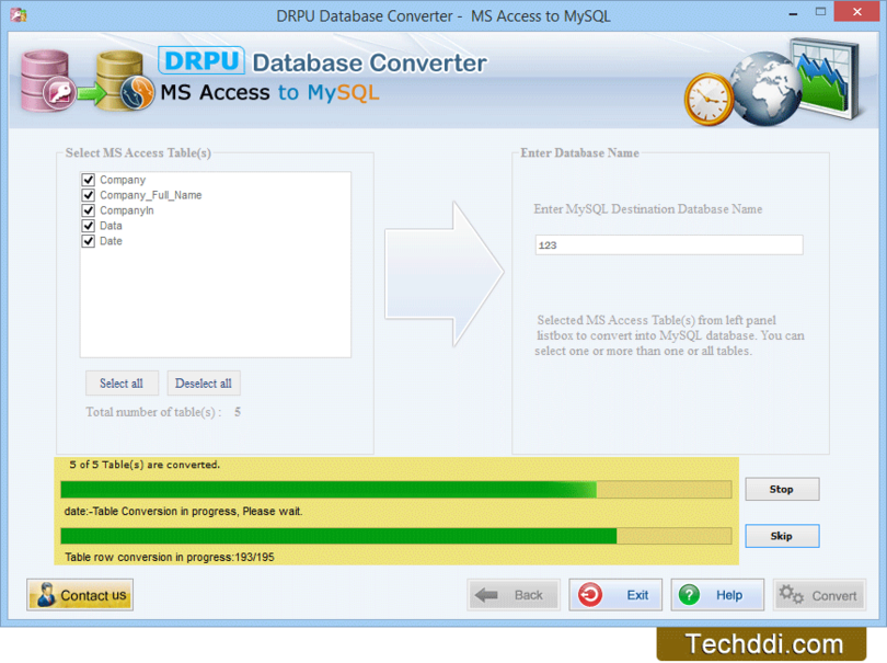MS Access to MySQL Database Converter