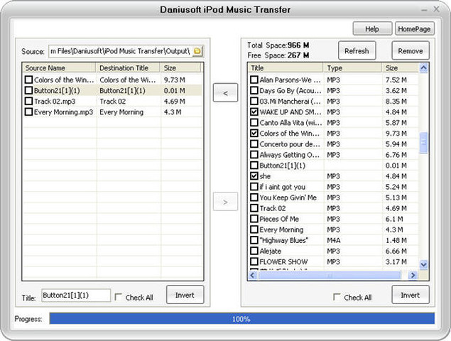 Daniusoft iPod Music Transfer