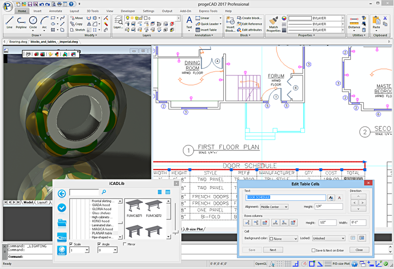 progeCAD 2018 Professional CAD Software