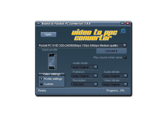 Video to Pocket PC converter