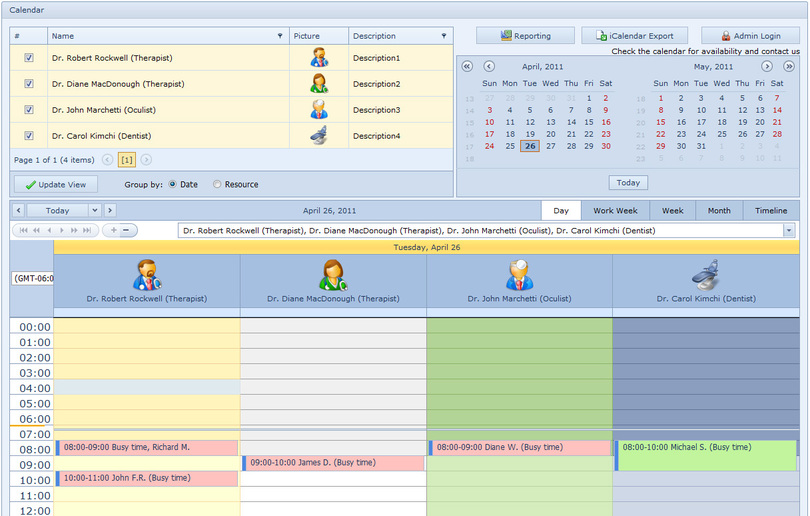 Medical Calendar for Workgroup
