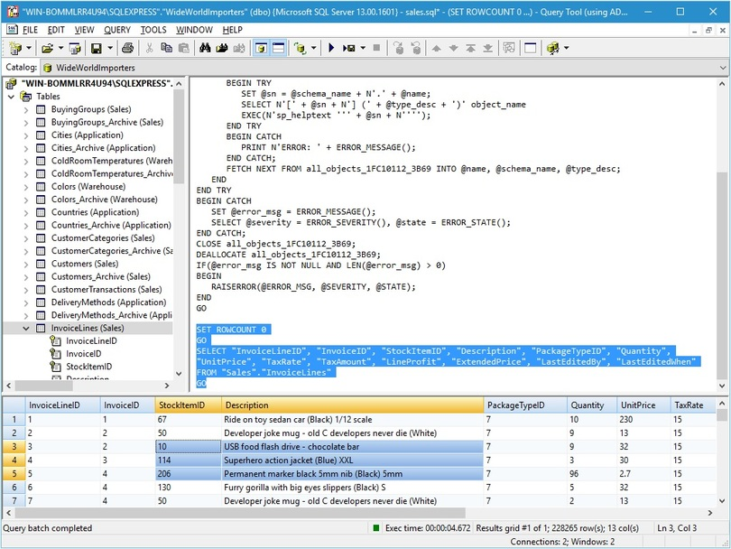 Query Tool (using ADO) 7.0 x64 Edition