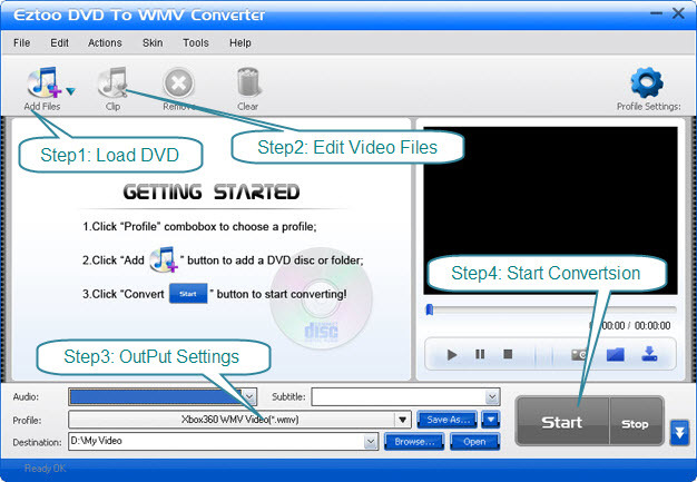 Eztoo DVD To WMV Converter