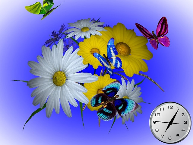 Wonderful Flowers 3D Screensaver
