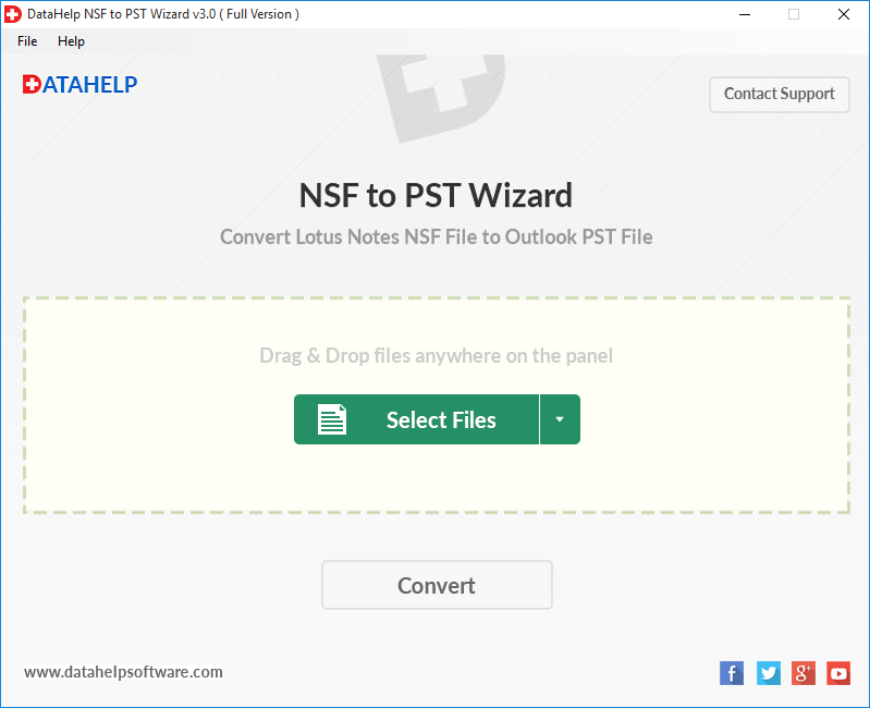 NSF to PST Conversion Tool