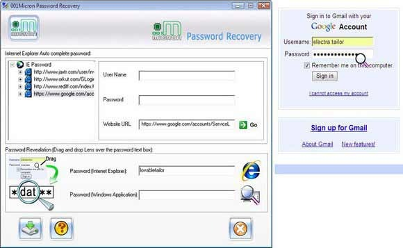 Internet Explorer Password Rescue Tool