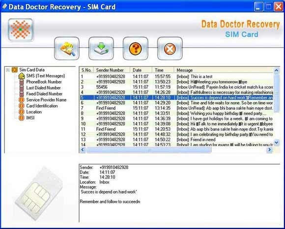 SIM Card Information Rescue Tool