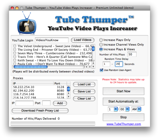 Tube Thumper – YouTube Views Increaser