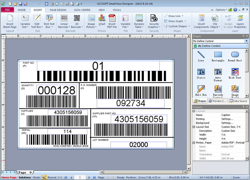 SmartVizor Variable Barcode Label Printing Software