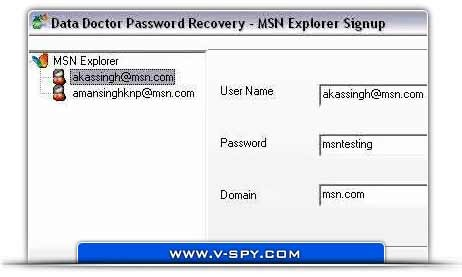 MSN Explorer Password Restore Tool