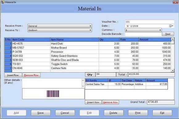 Inventory Management with Barcode