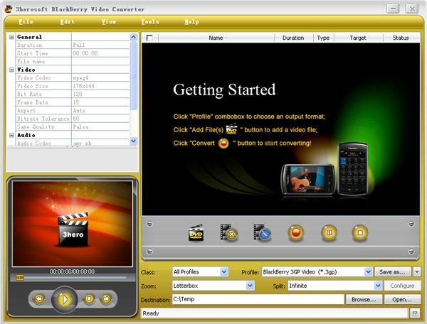 3herosoft BlackBerry Video Converter