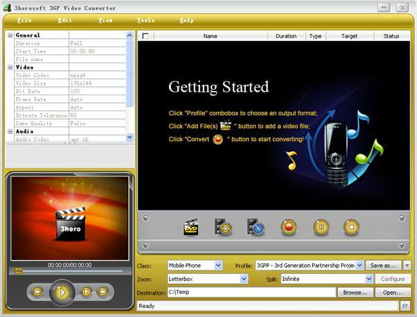 3herosoft 3GP Video Converter