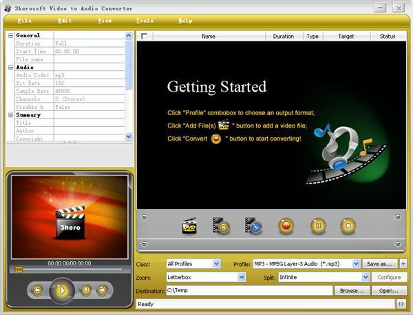 3herosoft Video to Audio Converter