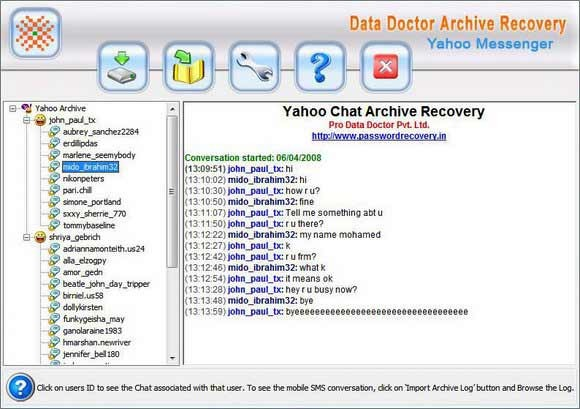 Yahoo Messenger Chat History Viewer