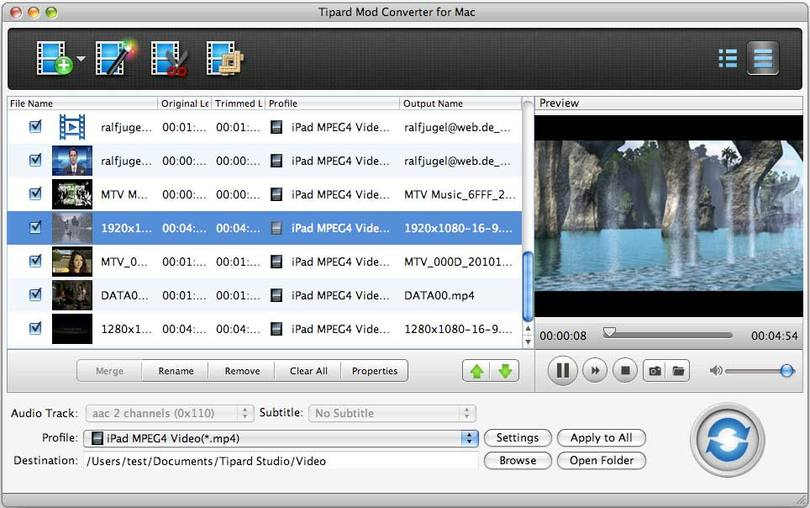 Tipard Mod Converter for Mac