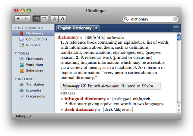French Dictionary & Thesaurus by Ultralingua