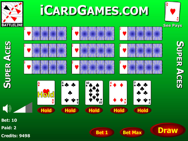 Super Aces 10 Play Video Poker