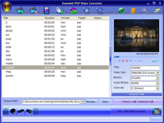 DawnArk PSP Video Converter