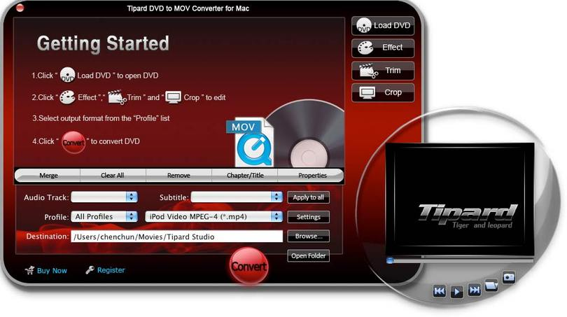 Tipard DVD to MOV Converter for Mac
