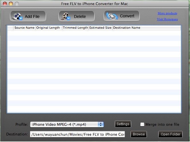 Free FLV to iPhone Converter for Mac