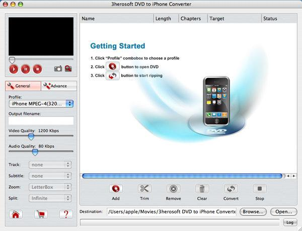 3herosoft DVD to iPhone Converter for Mac