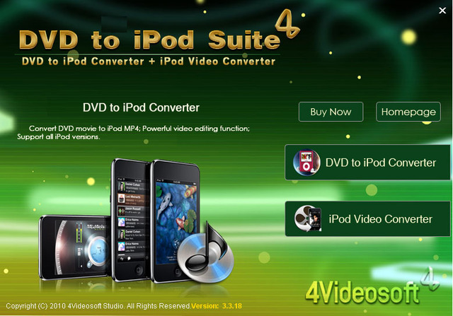 4Videosoft DVD to iPod Suite