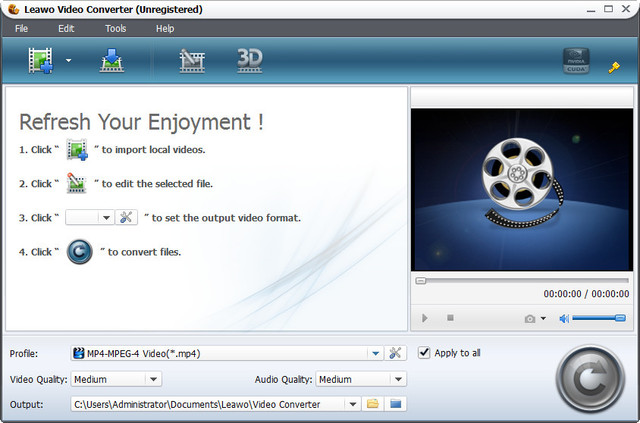 Leawo MP4 to Video Converter