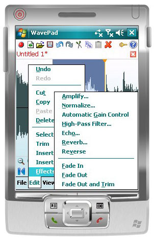 Wavepad Audio Editor for Pocket PC