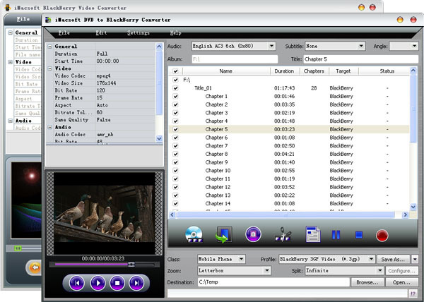 iMacsoft DVD to BlackBerry Suite