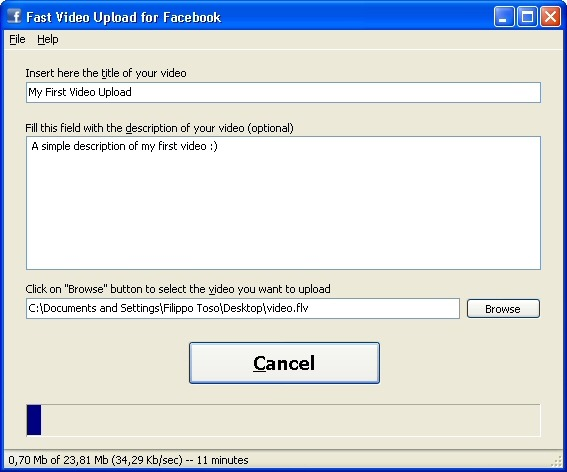 Fast Video Upload for Facebook
